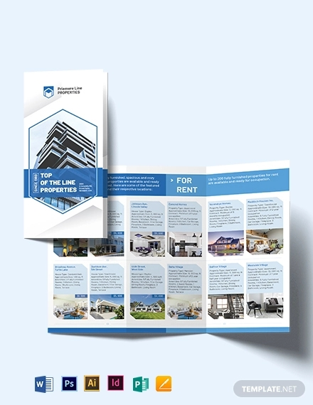 property tri fold brochure template