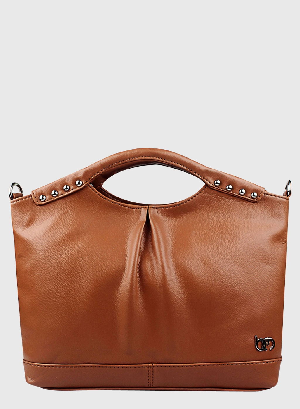 Brown Polyurethane Handbag