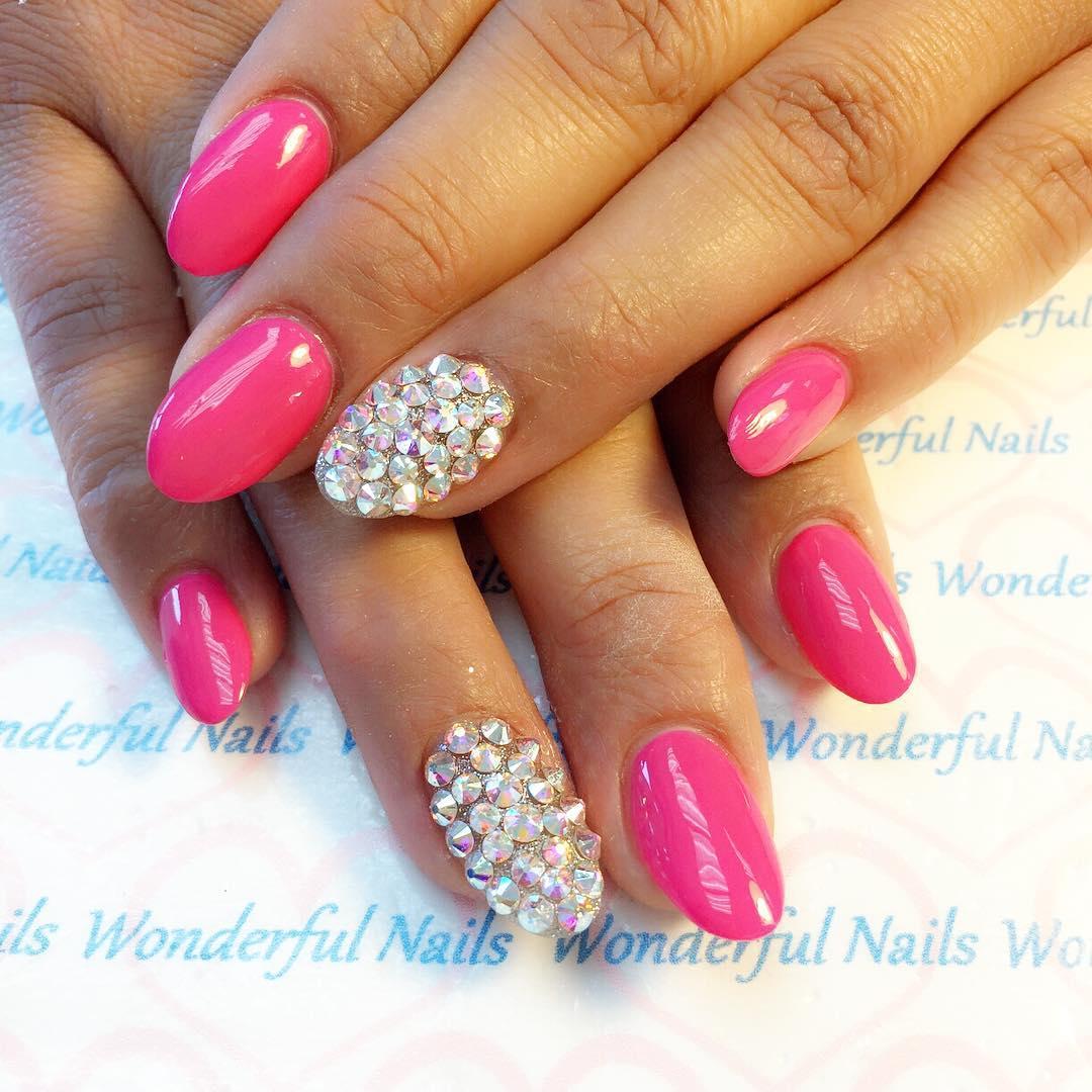 acrylic valentine nail art