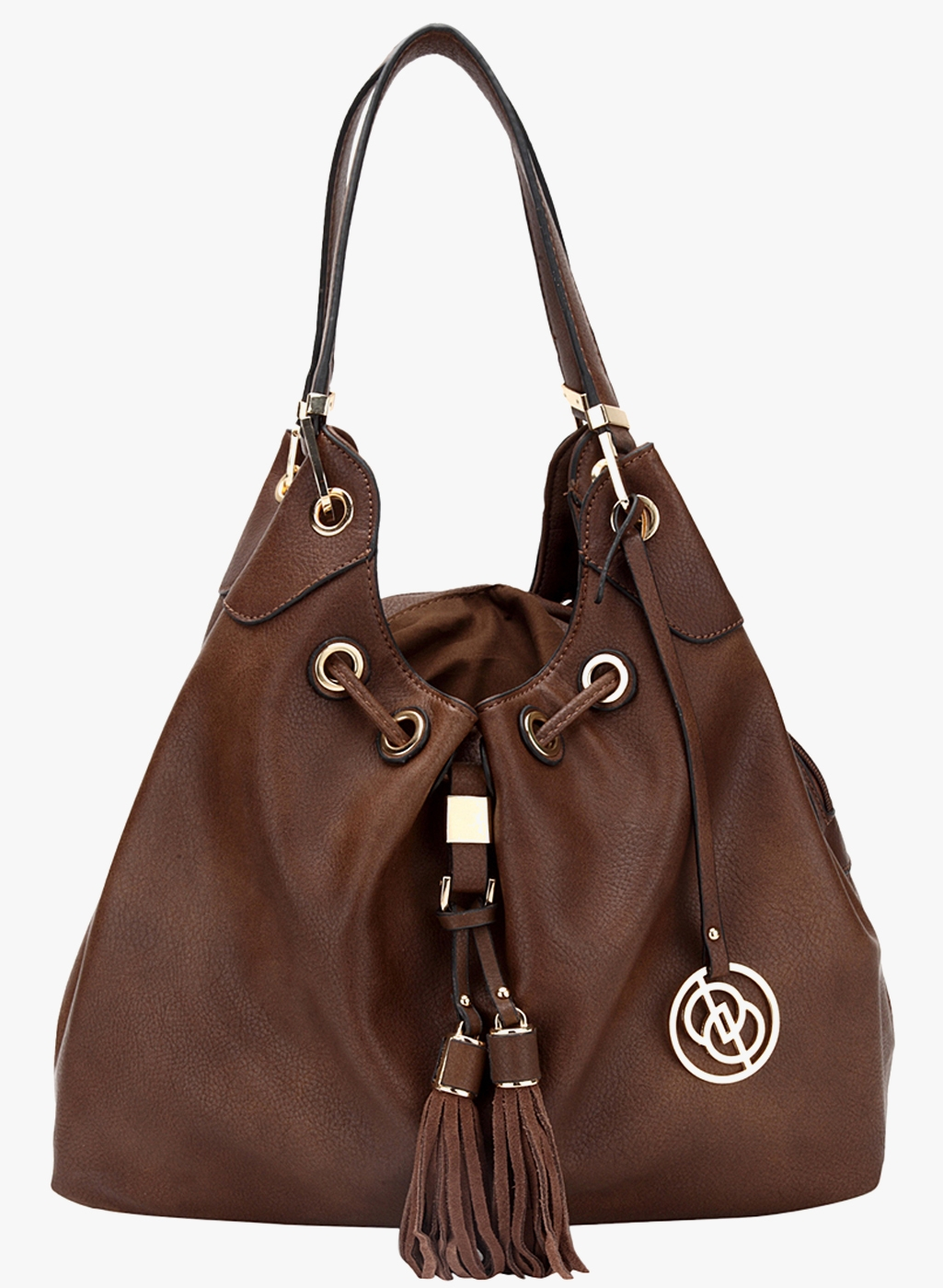 Elespry Brown Faux Leather Handbag