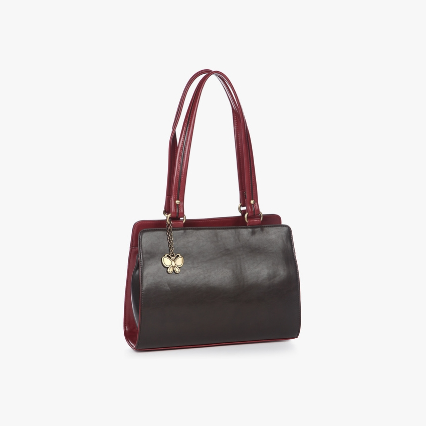 Butterflies Brown-Maroon Handbag