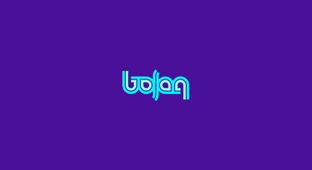 Colorful Ambigram Logo with Purple Background
