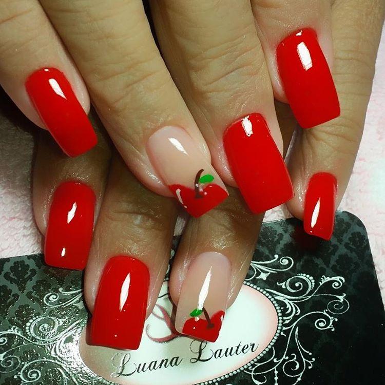 red design nail polish