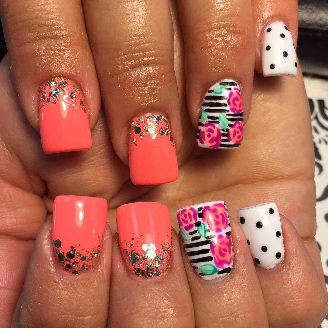 Acrylic nail designs with bling : Pretty bling acrylic nail art designs ideas design