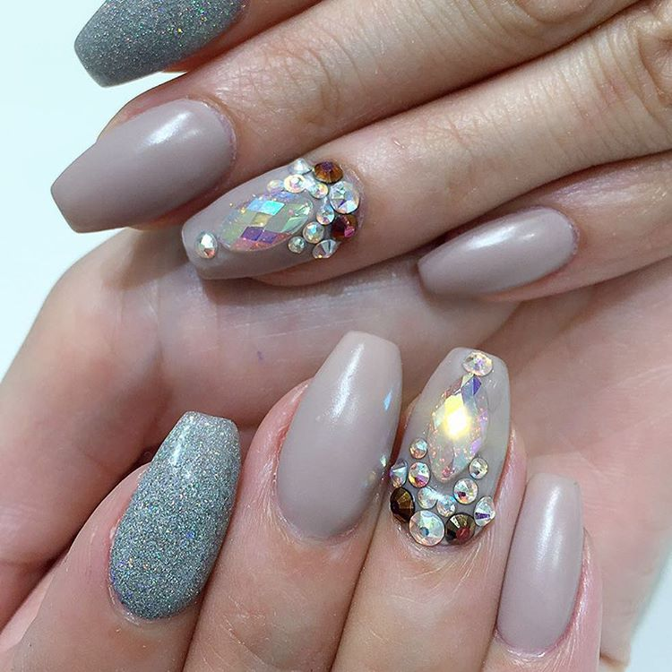 28 pretty bling acrylic nail art designs ideas design
