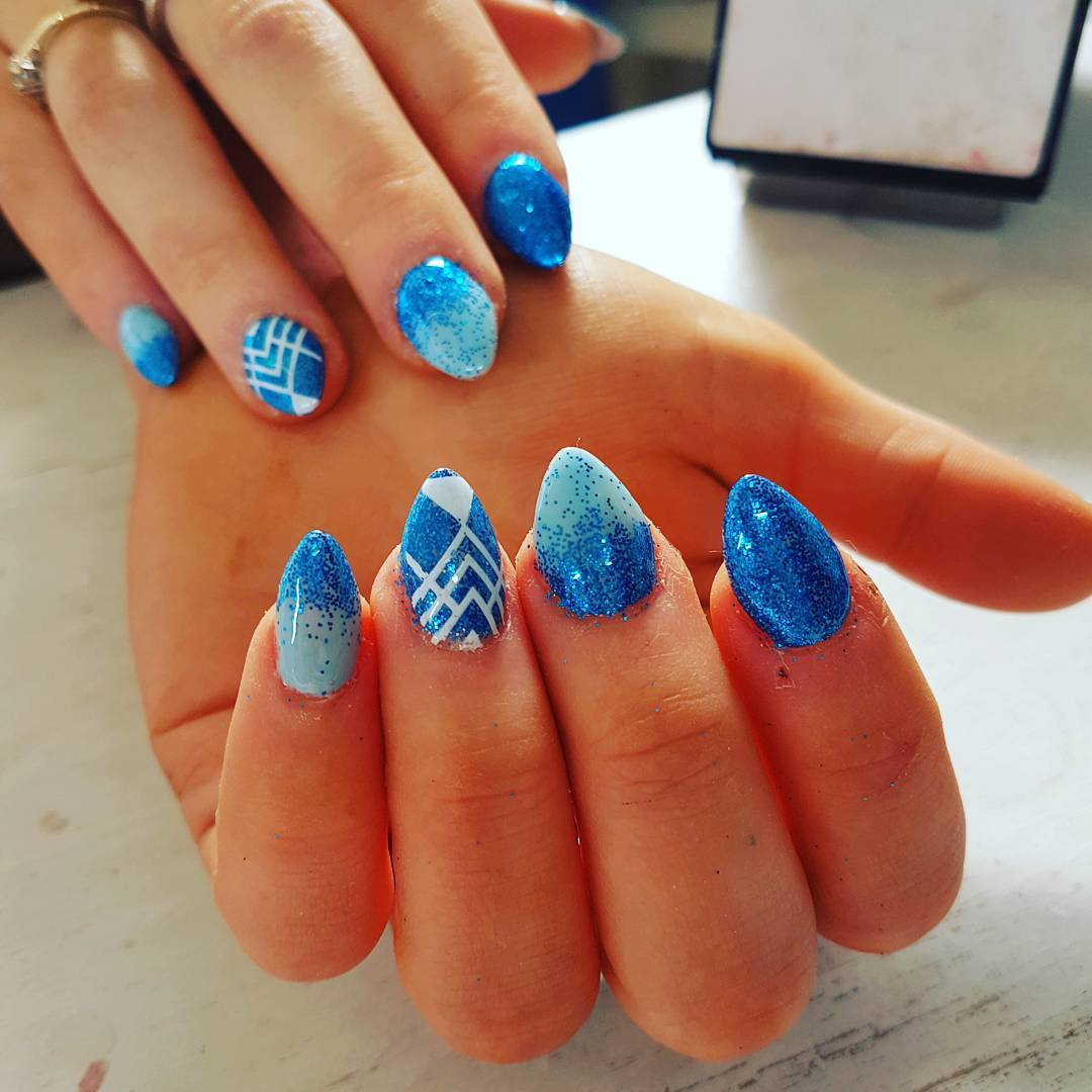 Summer Acrylic Sculptured Nails