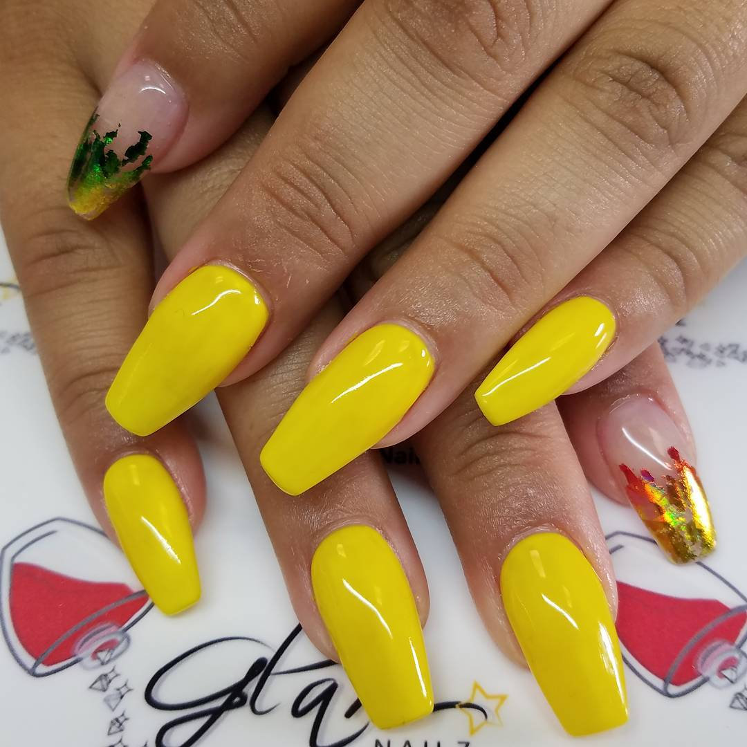 Yellow Nail Design Art Looks So Attractive