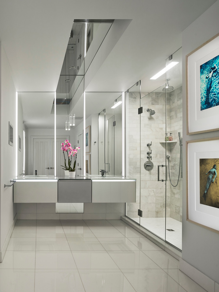 glass shower door and wall ideas