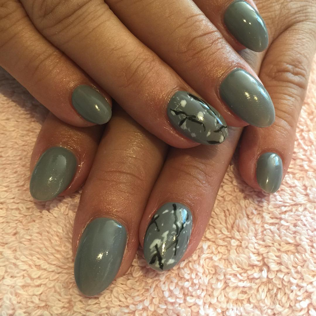 slate grey winter nails