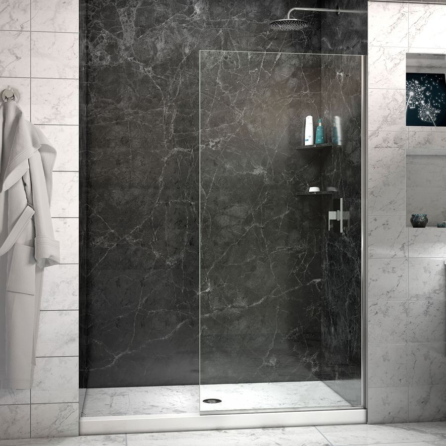 24 glass shower bathroom designs decorating ideas for Cool shower door ideas