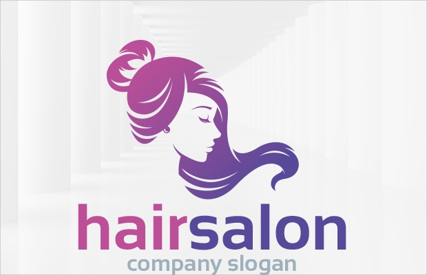 amazing hair logo design