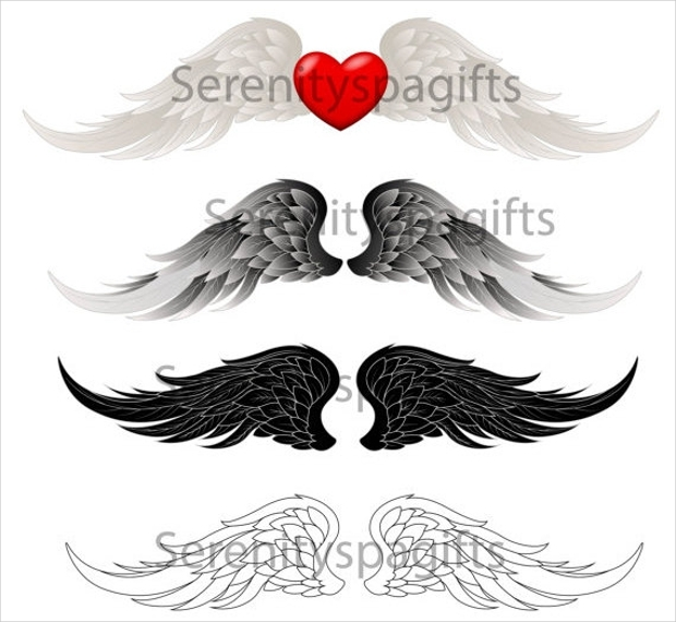 Set of Angel wings Logos for Sale