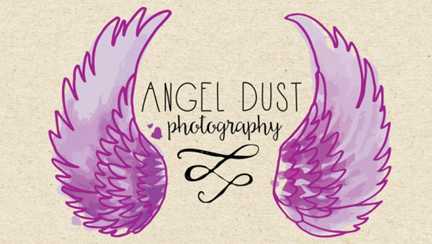 photography logo of angel wings