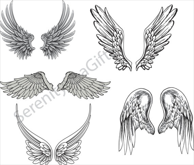 Vector Art of Angel Wings Logo