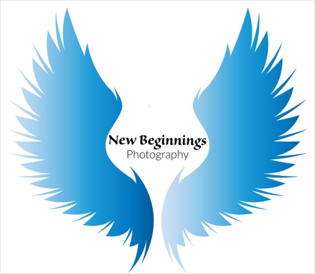 Angel Wings Logo Design for Web