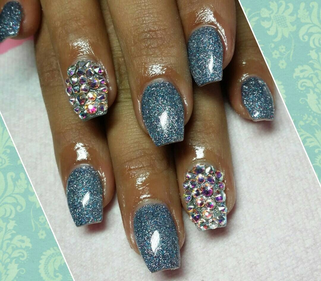24+ Silver Acrylic Nail Art Designs, Ideas | Design Trends - Premium ...