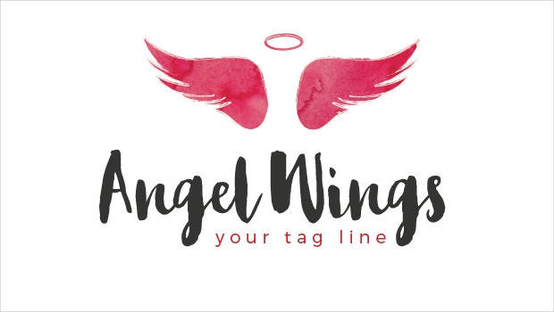 Premade Angel Wings Logo