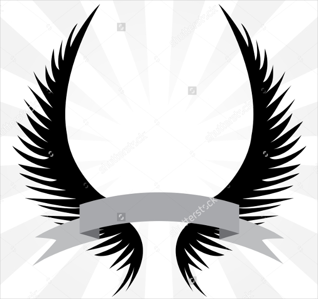 gothic looking wingsof angel logo