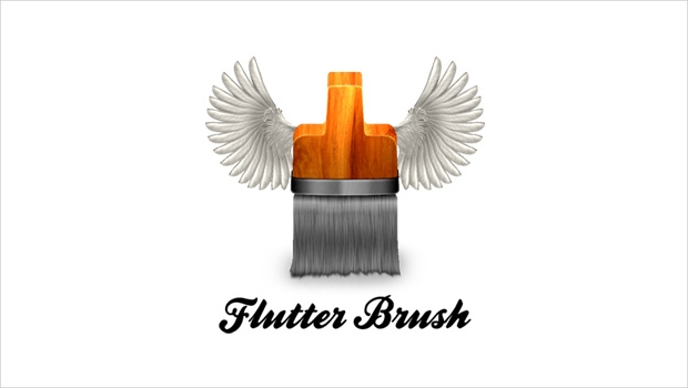 brush with wings logo designs