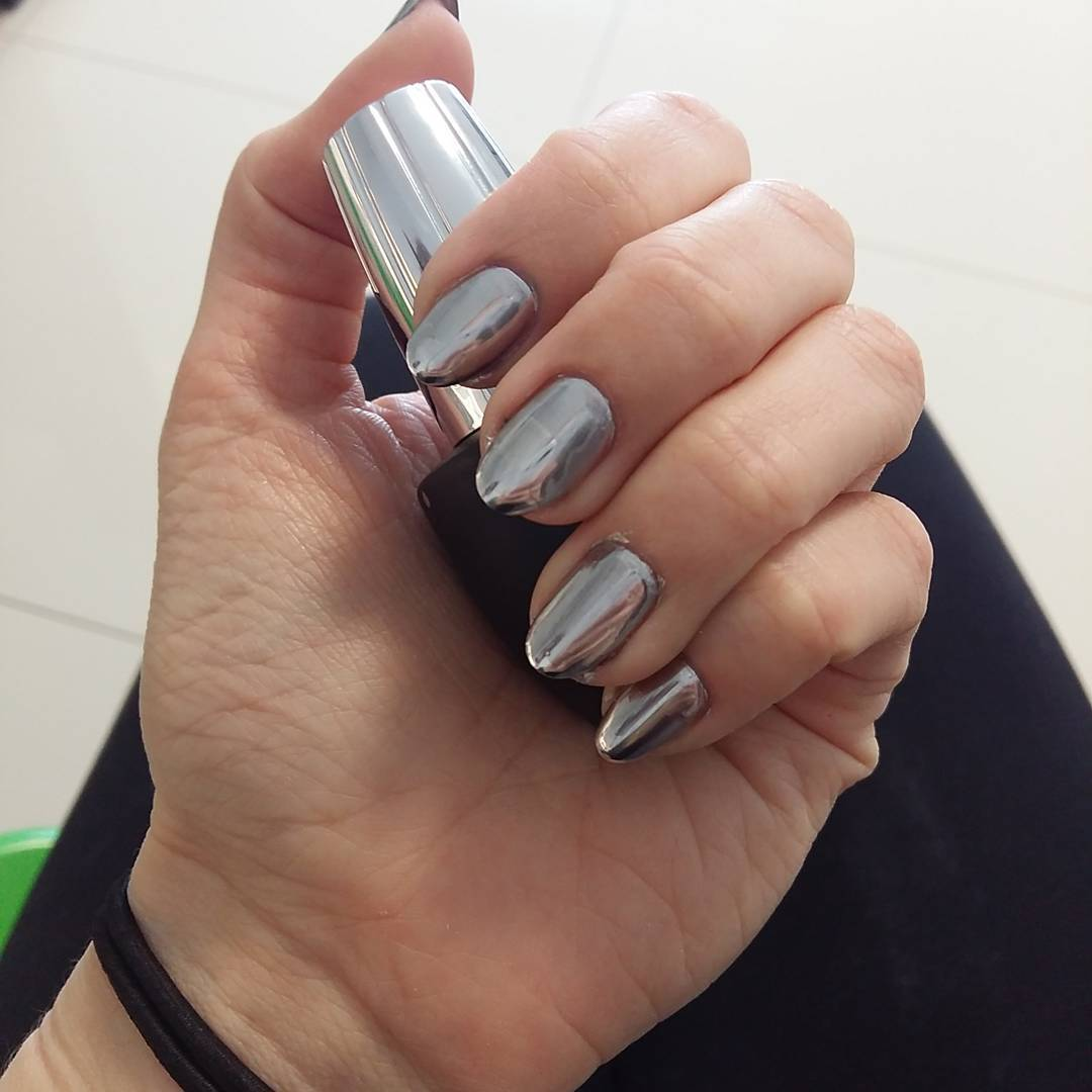 24 silver acrylic nail art designs ideas design trends amazing metallic silver nails prinsesfo Images