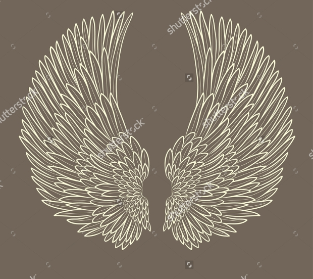 eps format angel wings logo
