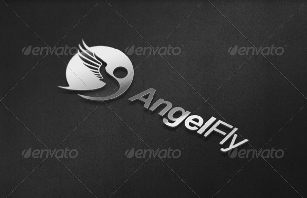 Beautiful Angle Wings Logo Design