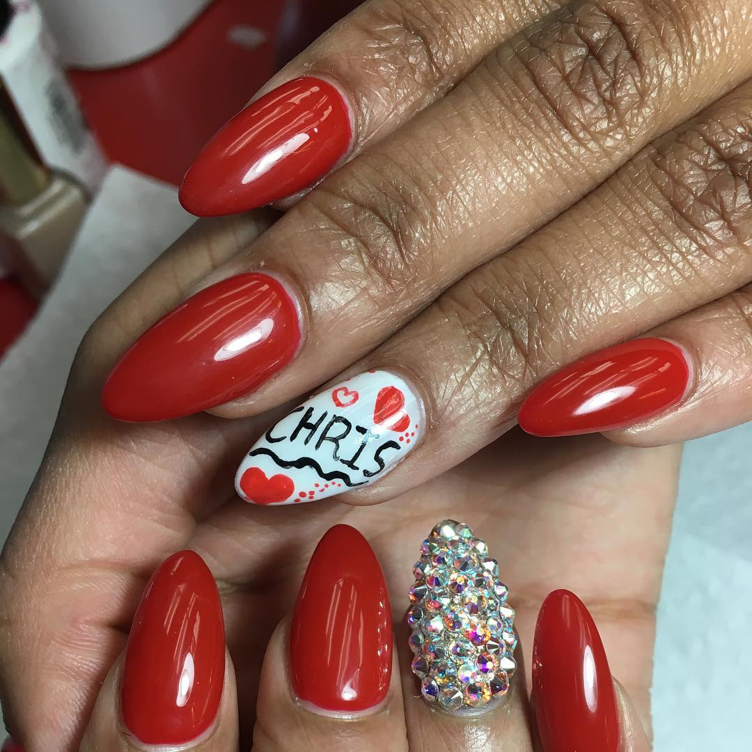 Nails Red: 28+ Almond Nail Art Designs, Ideas