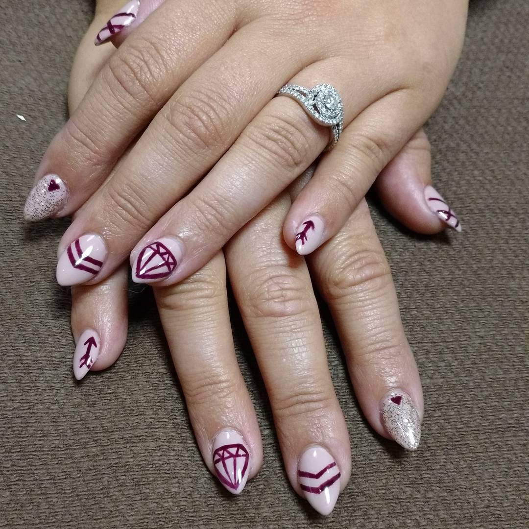 Gorgeous Designed Nail Art For Short Nails