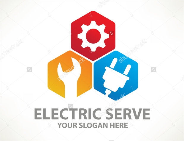 Colorful Backgrounds Electric Logo