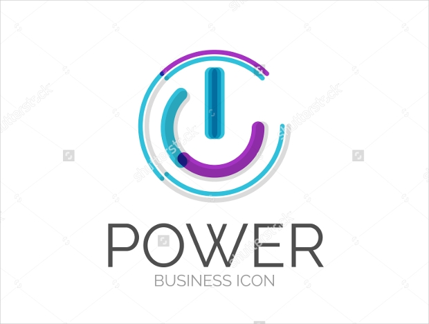Line Designed Electric Logo for Business
