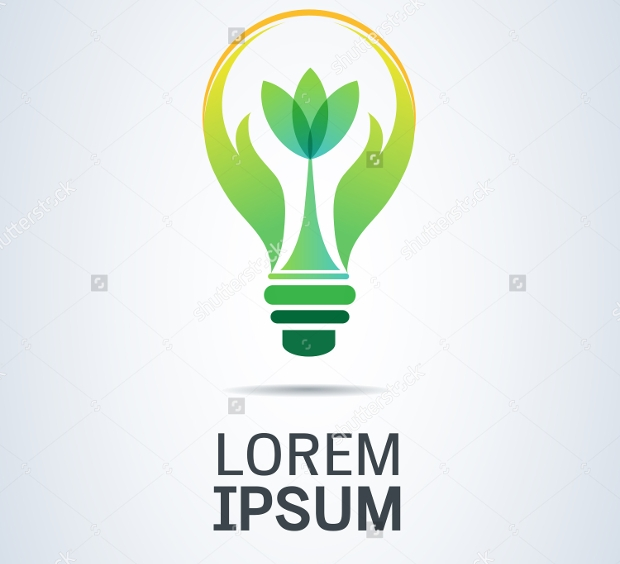 Beautiful Green Bulb Logo Design