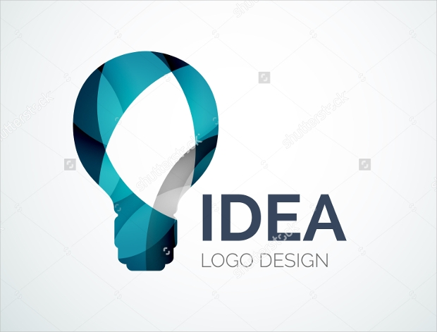 Geometric Shape Electric Bulb Logo
