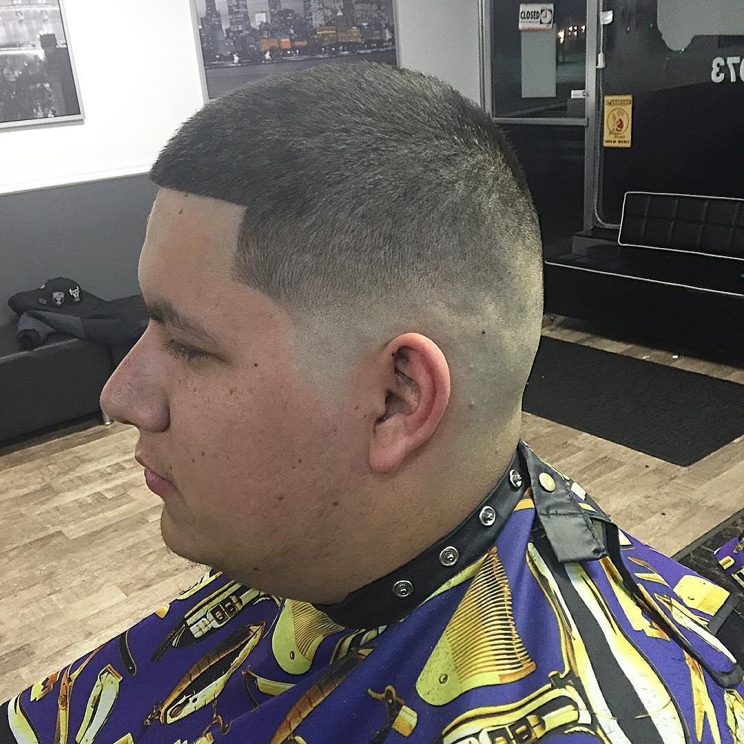 Bald Taper Blowout Haircut
