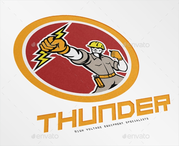 High Voltage Electrical Logo Design
