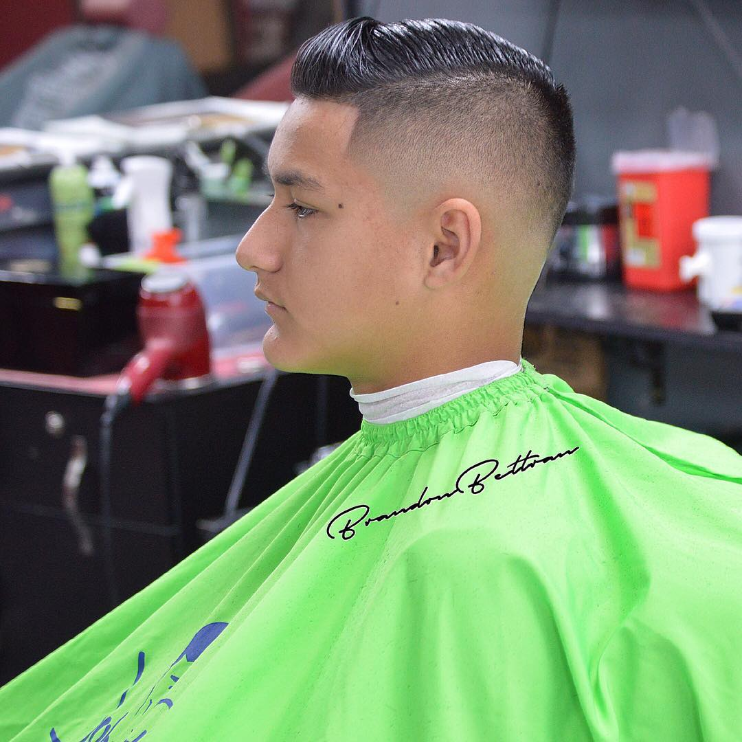 fashion bald taper fade hairstlyle