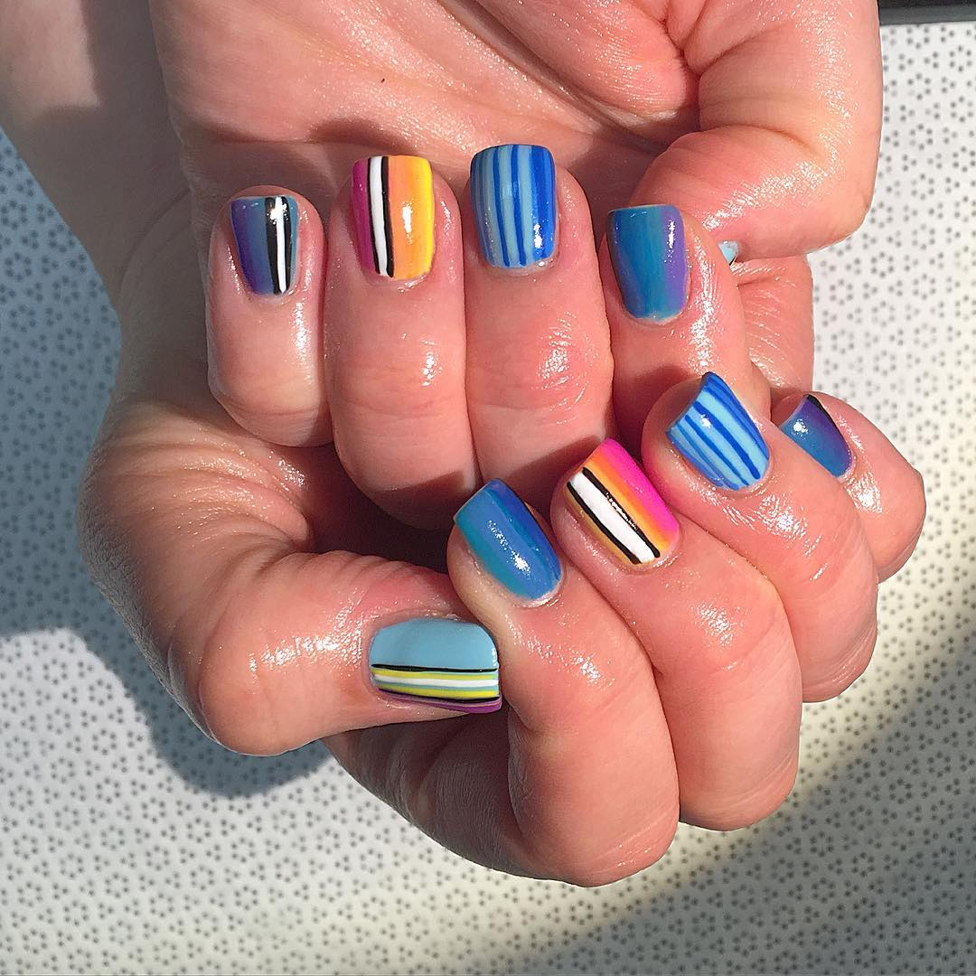 Attractive Colors Nail Design For Women