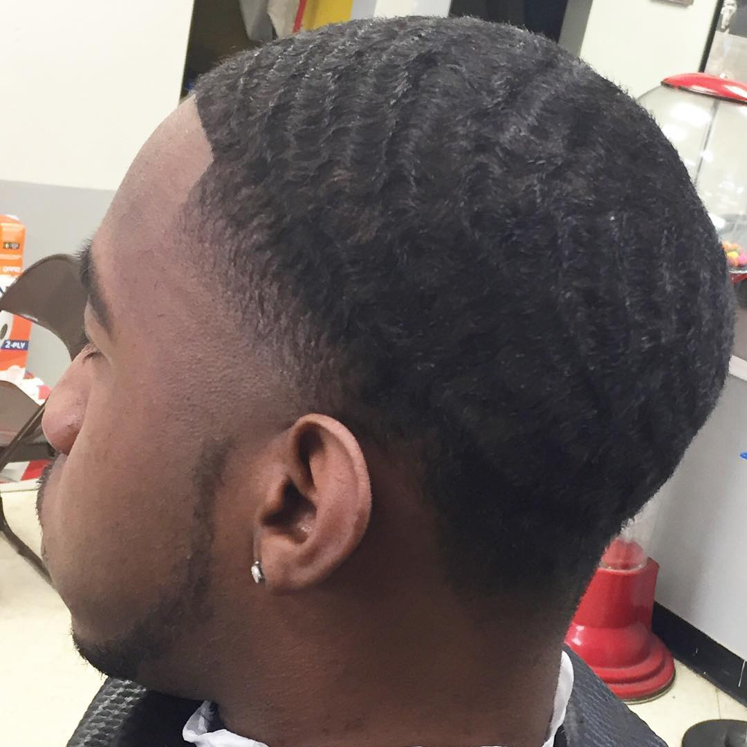 temple bald fade merging hairstyle