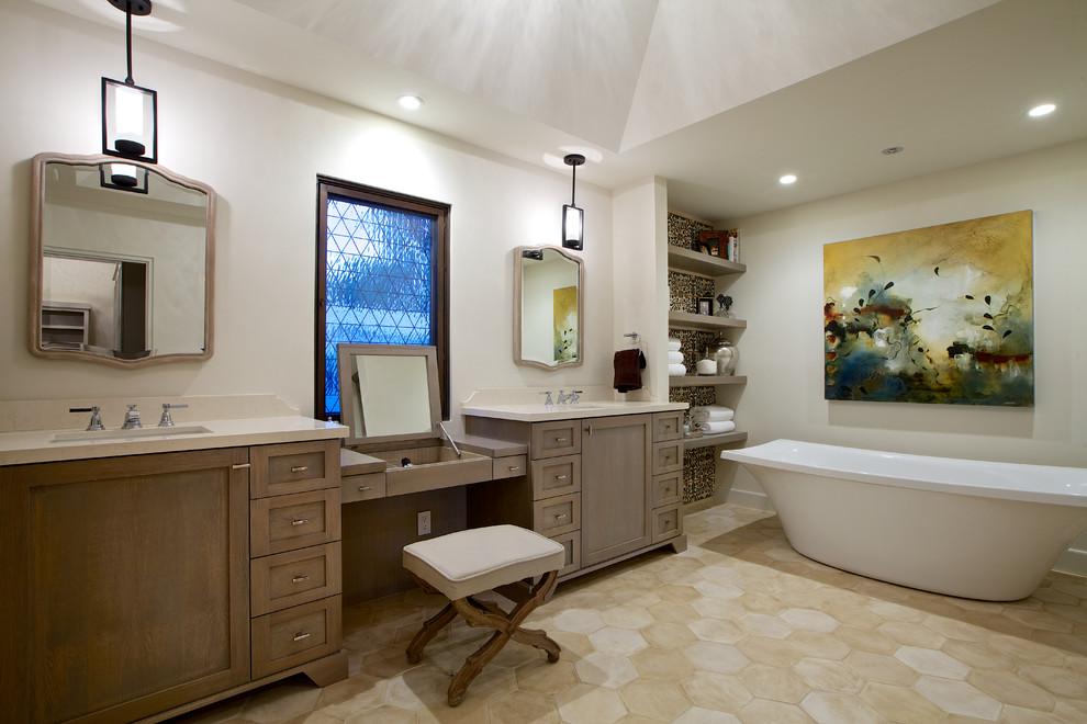 Awesome Meaditerranean Bathroom Wall Designs