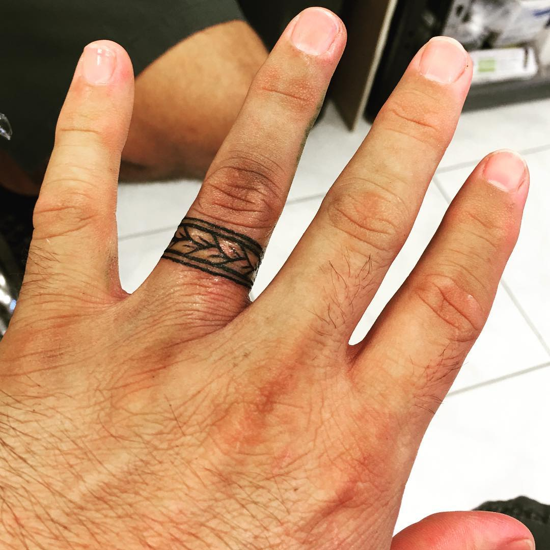 Wedding Band Ring Tattoo Design