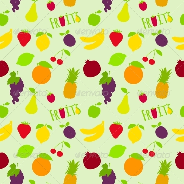 fruits colorful wallpaper pattern