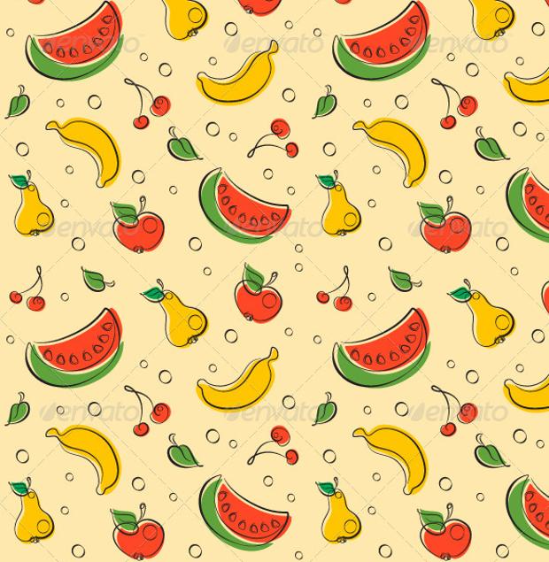 fruit outline pattern