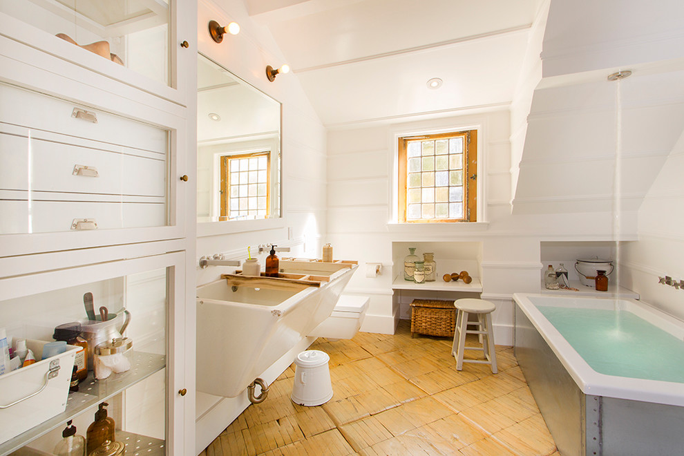 White Traditional Bathroom Designs