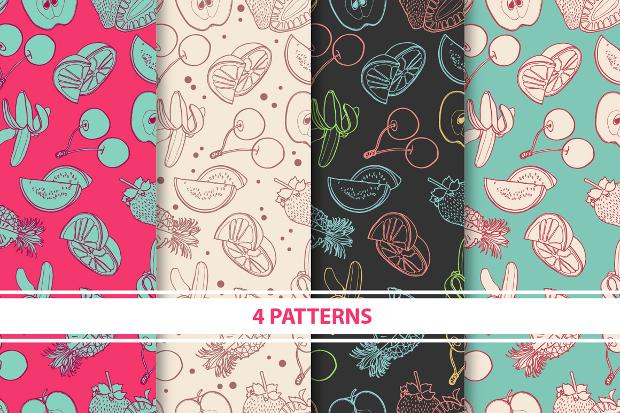 summer fruits design pattern