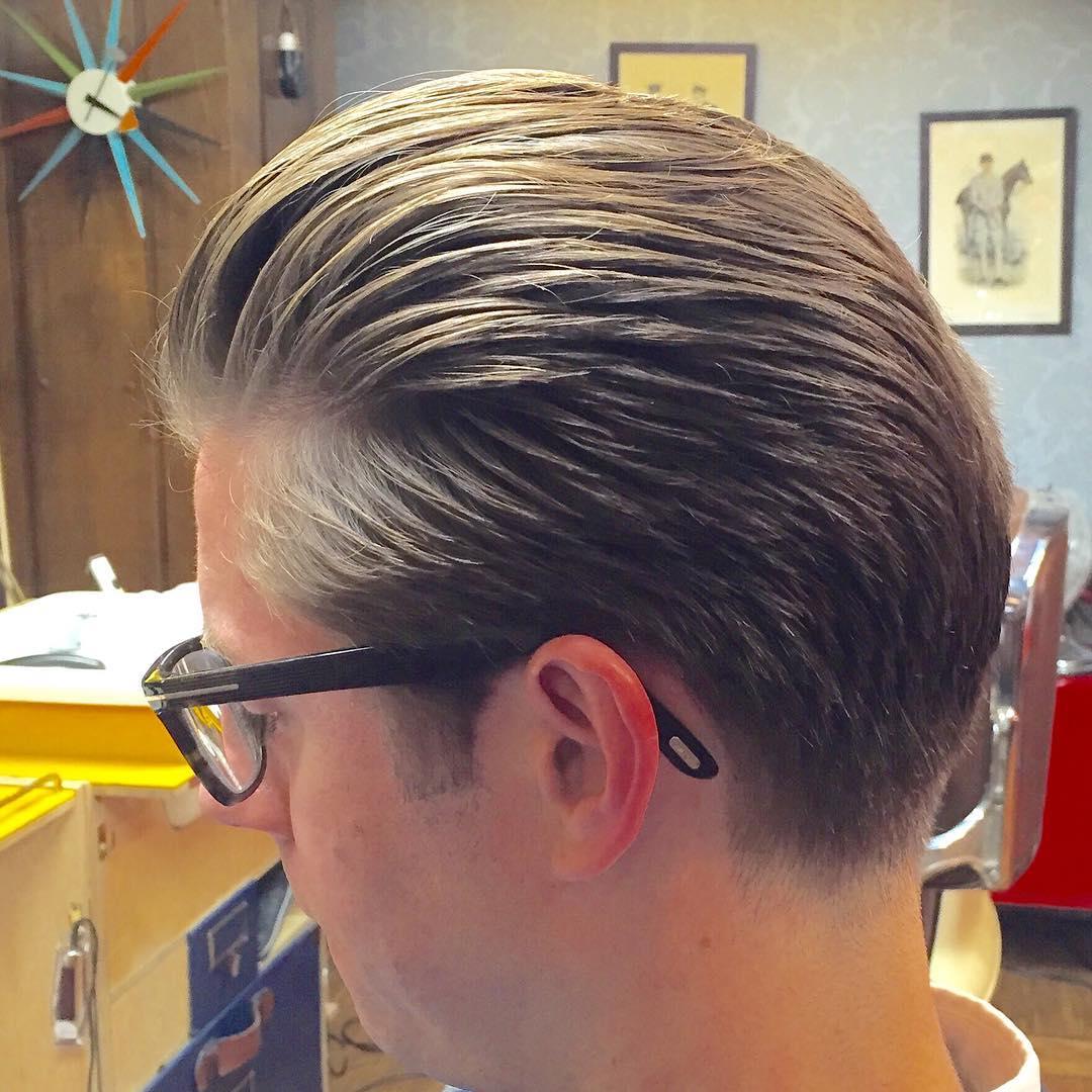 long top side classic taper hair design