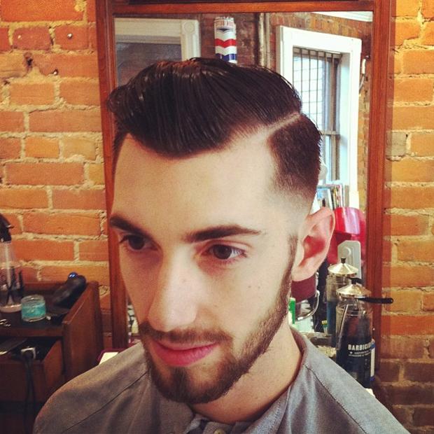 stylish classic fade hair