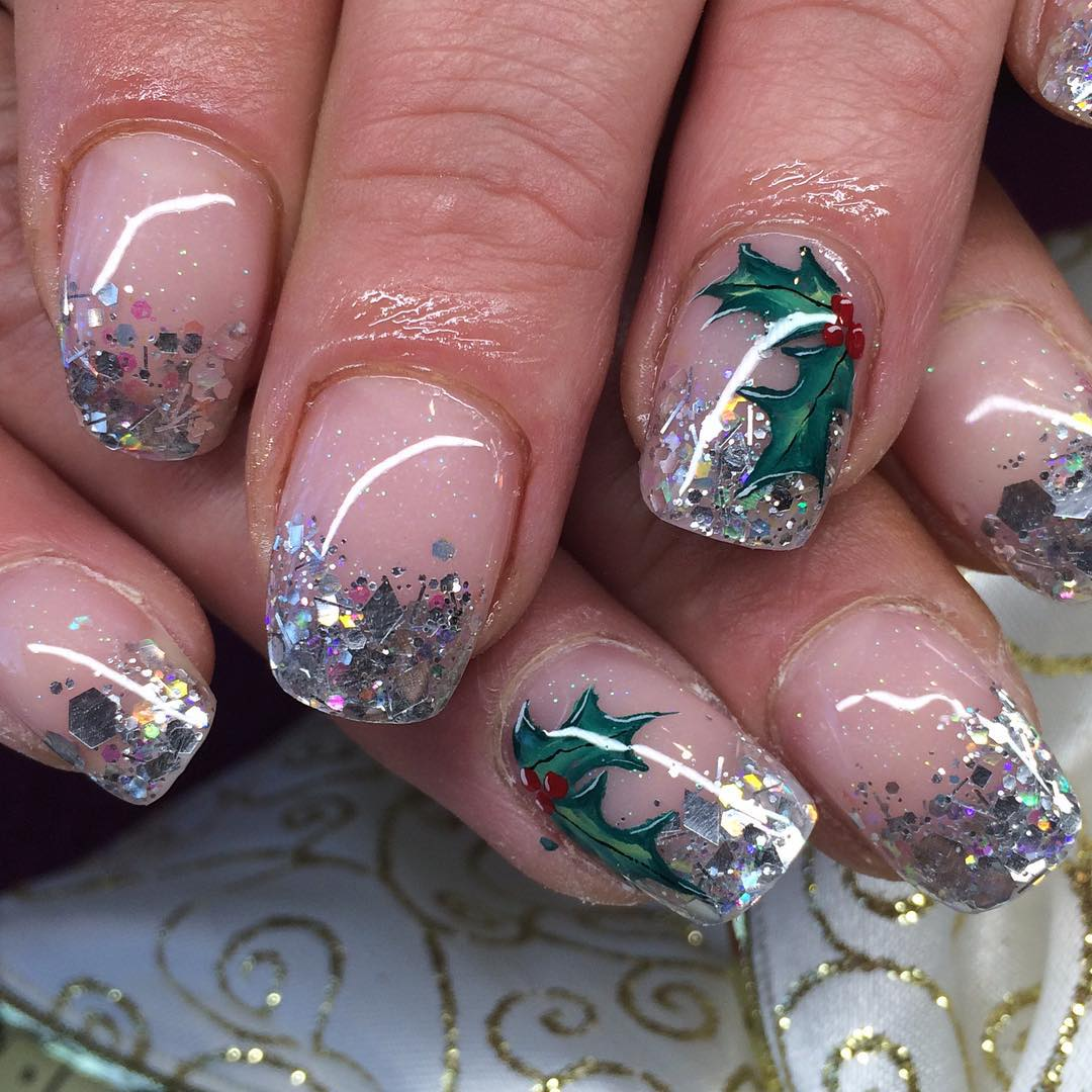 29+ Glitter Acrylic Nail Art Designs, Ideas