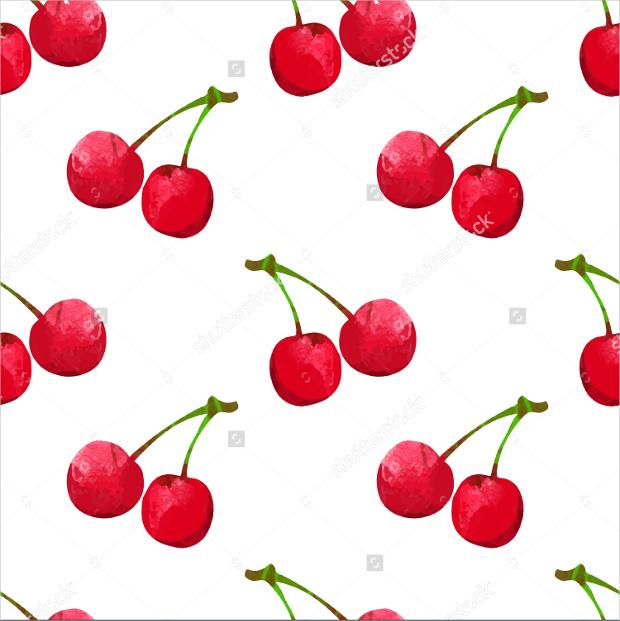 fabric cherry fruit design pattern
