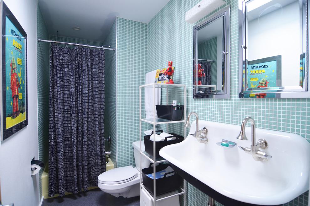 Blue Bathroom Wall Mural Ideas