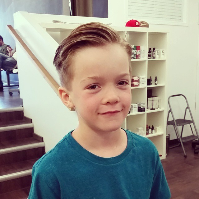 kid style classic hairstyle