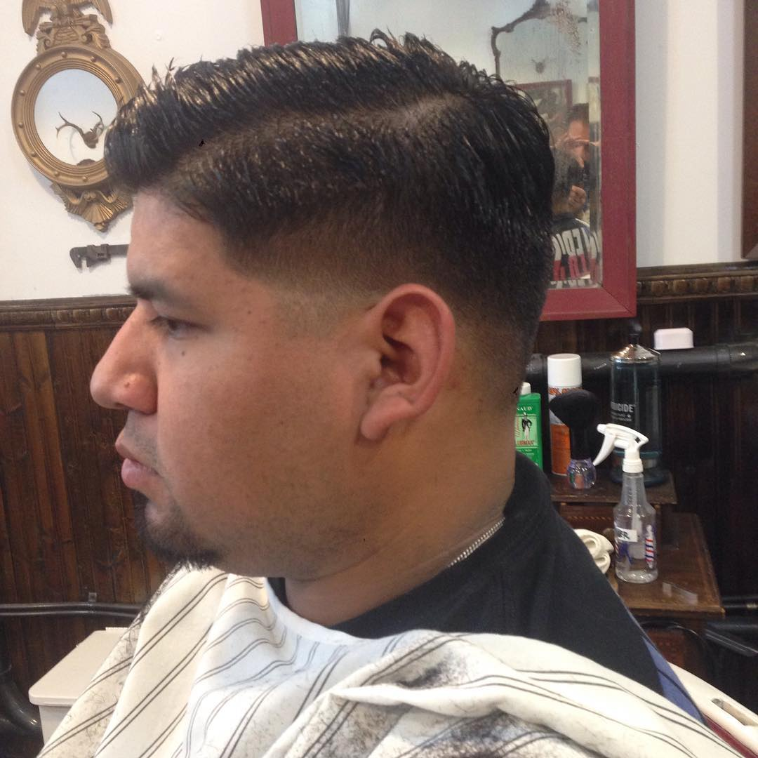 fade with facial classic hair